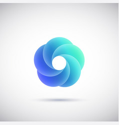 abstract wave logo vector image