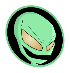 alien face vector image