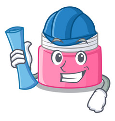Architect face cream in the cartoon form vector