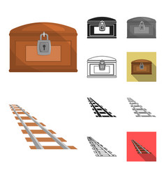 attributes of the wild west cartoonblackflat vector image