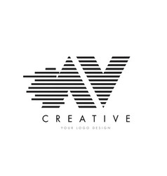 av a v zebra letter logo design with black and vector image