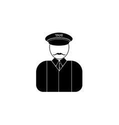 avatar of a taxi driver iconelement of popular vector image
