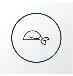 Bandanna icon line symbol premium quality vector