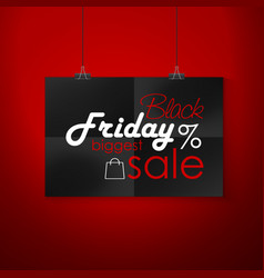 black friday sale emblem vector image