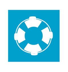 blue square frame with flotation hoop vector image
