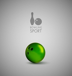 Bowling bowl on the gray background as design vector image