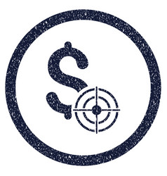 Business target rounded grainy icon vector