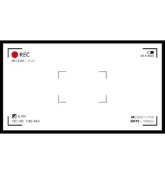 camera viewfinder screen vector image