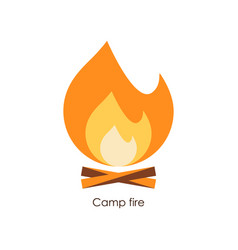 camp fire icon simple vector image