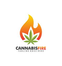 cannabis fire 2 concept design template vector image