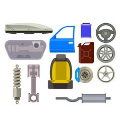 Car parts auto repair service vehicle vector