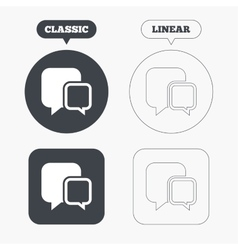 Chat sign icon Speech bubbles symbol vector image