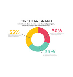 circular graph infographic element vector image