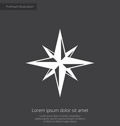 Compass premium icon vector