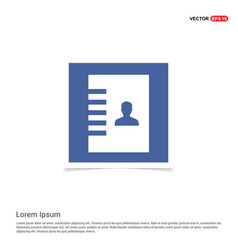 Contact list icon - blue photo frame vector