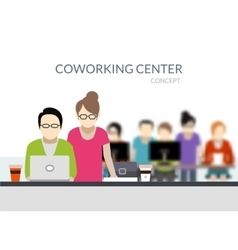 Coworking Center Composition vector