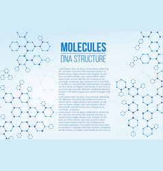 creative of molecular vector image