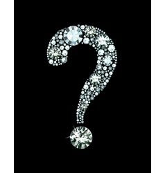 Diamond Question Mark vector image