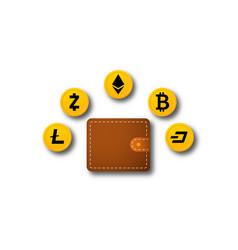 digital currency wallet vector image
