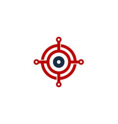 digital target logo icon design vector image