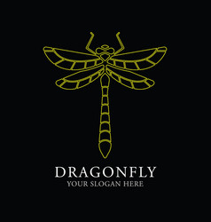 Dragonfly logo design template vector