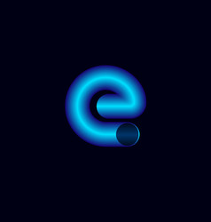 e letter like pipeline pipe logo vector image
