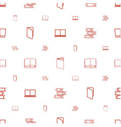 encyclopedia icons pattern seamless white vector image