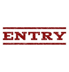 Entry Watermark Stamp vector image