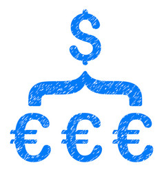 euro dollar conversion aggregator grunge icon vector image