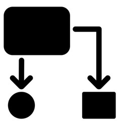 Flow chart flat icon vector