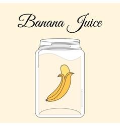 Fruit juice bottle vector