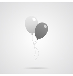 Gray Balloons Flat Icon vector image