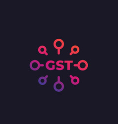 Gst goods and service tax icon vector