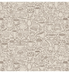 Hand-drawn doodle coffee and tea vector
