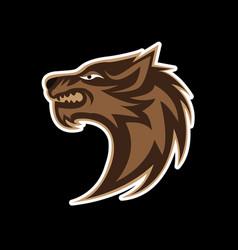 head wolf vector image