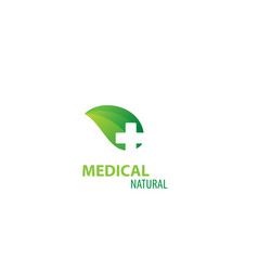 herbal medicine medical design logo vector image