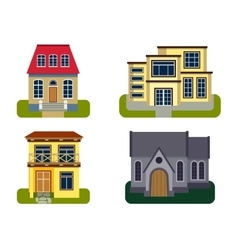 Houses front view vector image