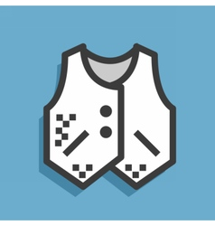 Icon textile jacket vector