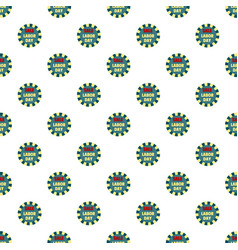 labor day sale pattern seamless vector image