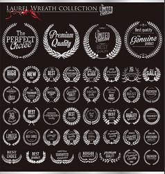 Laurel wreath silver collection vector