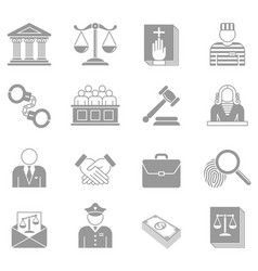 Law and enforcement icons set vector