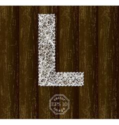 Letter L vector