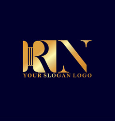 logo letter r and n vector image