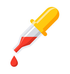 medical pipette icon vector image