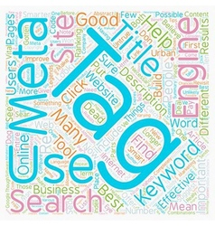 Meta Tag You re It How To Use Meta Tags vector image