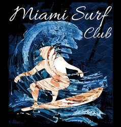 miami beach wind surfing vector image