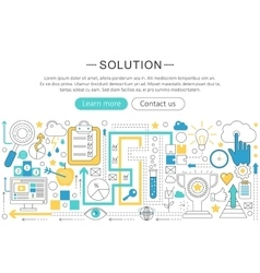 Modern line flat design Solution concept vector