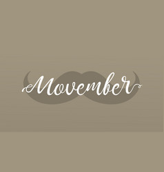 movember cancer awareness event banner vector image