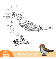 Numbers game sparrow vector