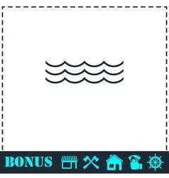Ocean or sea icon flat vector